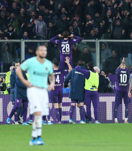 Fiorentina deelt tik uit aan Inter met goal in blessuretijd