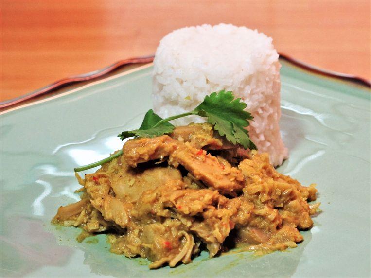 Vegan-rendang met nangka Beeld Pay-Uun Hiu