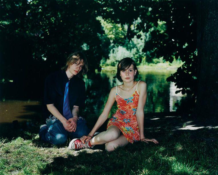 Foto uit de serie Vonderpark (2005) van Rineke Dijkstra. Beeld null