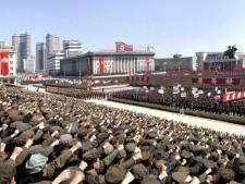 Les Nord-Coréens défilent contre les Etats-Unis