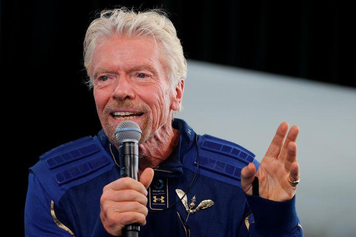 Richard Branson na zijn eerste ruimtevlucht vorige maand.