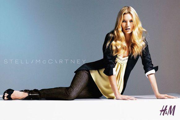 Kate Moss voor Stella McCartney x H&M.