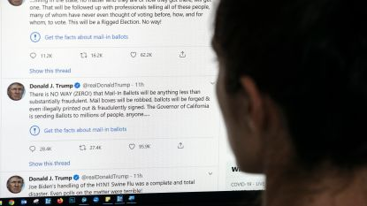 """Trump dreigt ermee sociale media """"te sluiten"""" na waarschuwingen bij zijn tweets"""