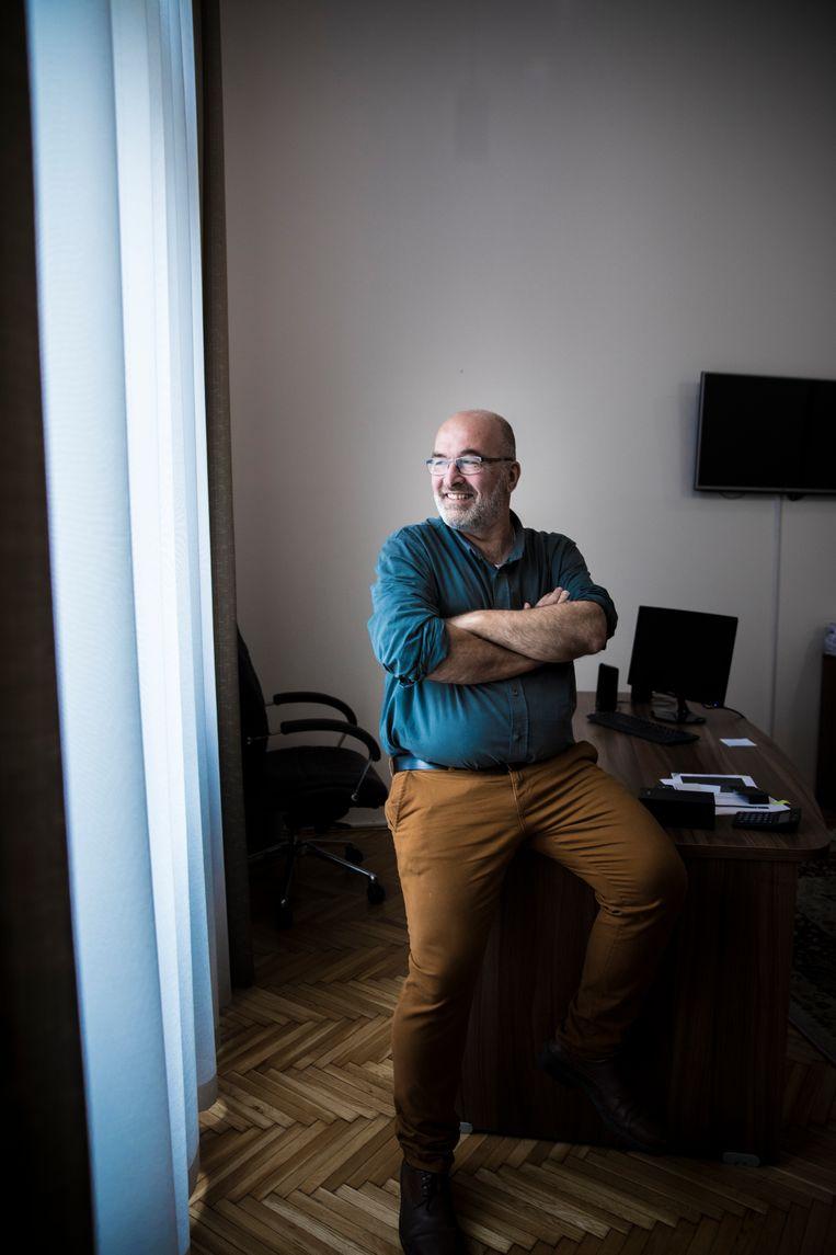 András Pikó, de nieuwe burgemeester van Józsefváros. Beeld Marlena Waldthausen