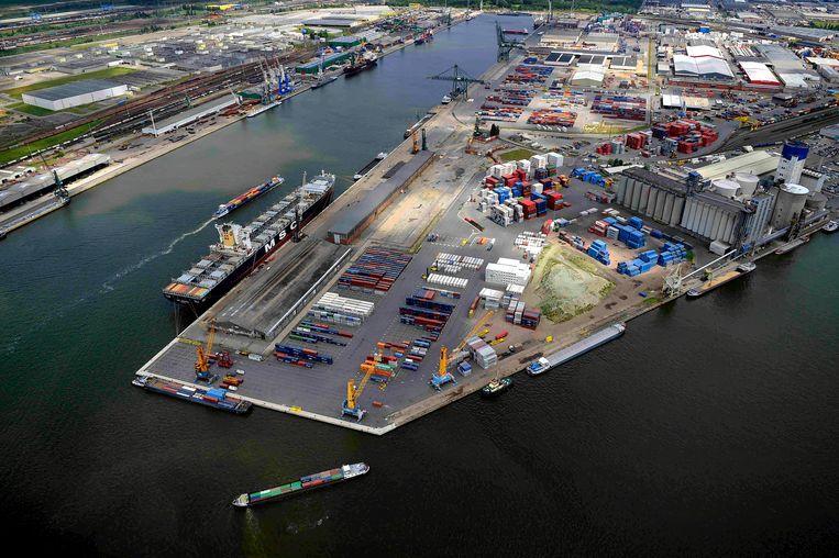 De haven van Antwerpen.  Beeld BELGA