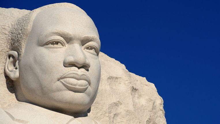 Sculptuur van Martin Luther King in Washington, DC. Beeld AFP