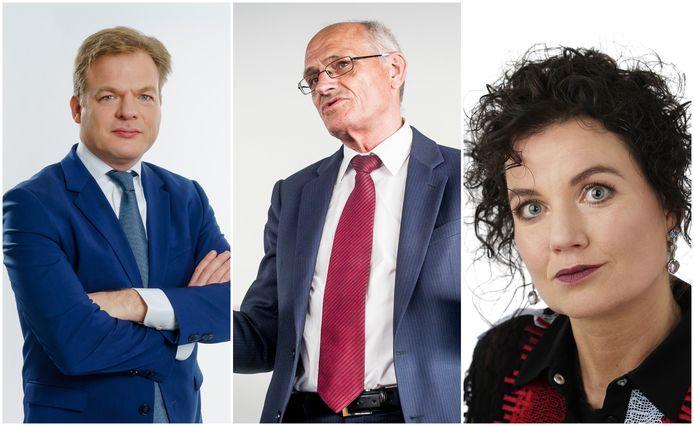 Pieter Omtzigt, Gerard Sanderink en Rian van Rijbroek.