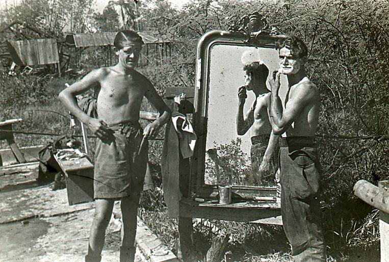 Nederlandse militairen. Beeld -