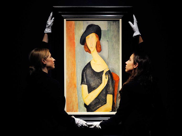'Jeanne Hebuterne'van Amadeo Modigliani bij Christie's. Beeld epa