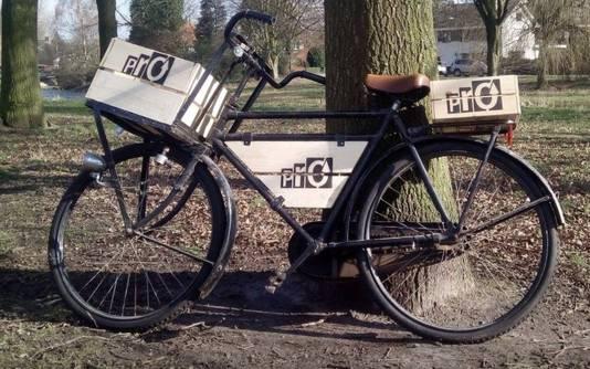 De campagnefiets van PrO, klaar om zaaizakjes te transporteren.