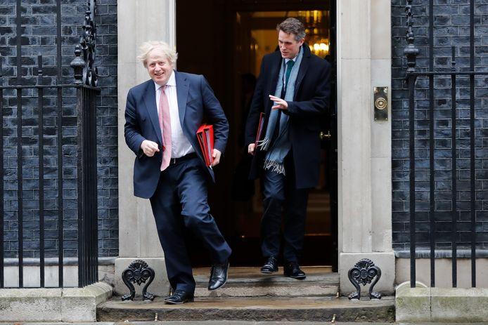 Johnson en Williamson verlaten Downingstreet.