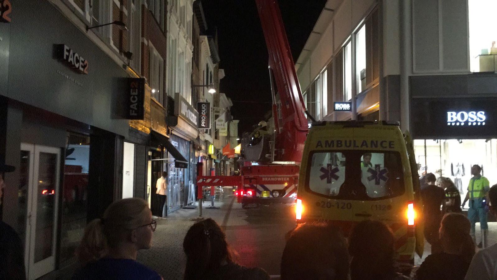 Brand in de Lange Brugstraat in het centrum van Breda.