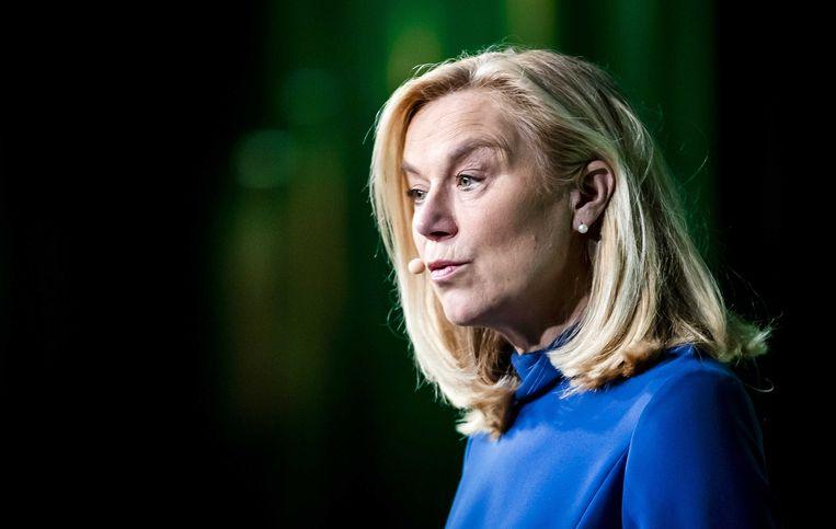 Sigrid Kaag, de lijsttrekker van D66. Beeld ANP