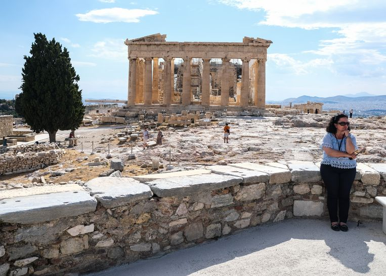 Rust op de Akropolis in Athene. Beeld Getty Images
