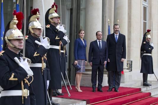 De Spaanse koning Felipe VI bracht gisteren een bezoek aan Frankrijk.