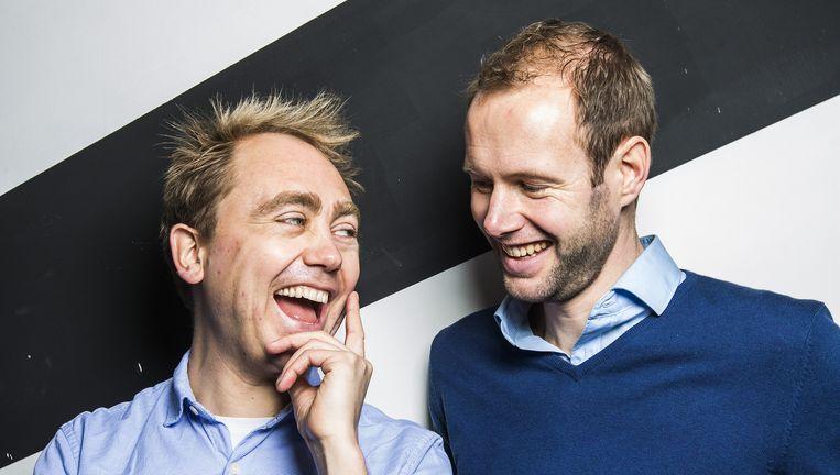 Tijs Stehmann en Lester du Perron van doktermedia.nl. Beeld Jiri Buller