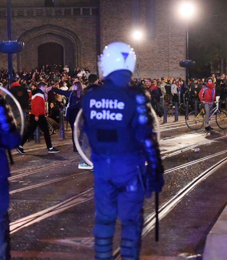 Les images de la nuit agitée à Ixelles