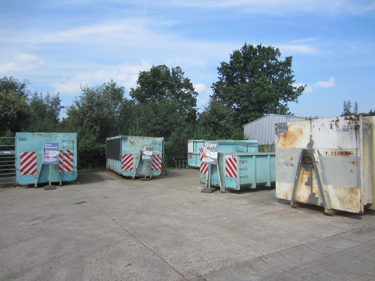 Containerpark, zoals hier op archieffoto, zijn wel vaker het doelwit van dieven.