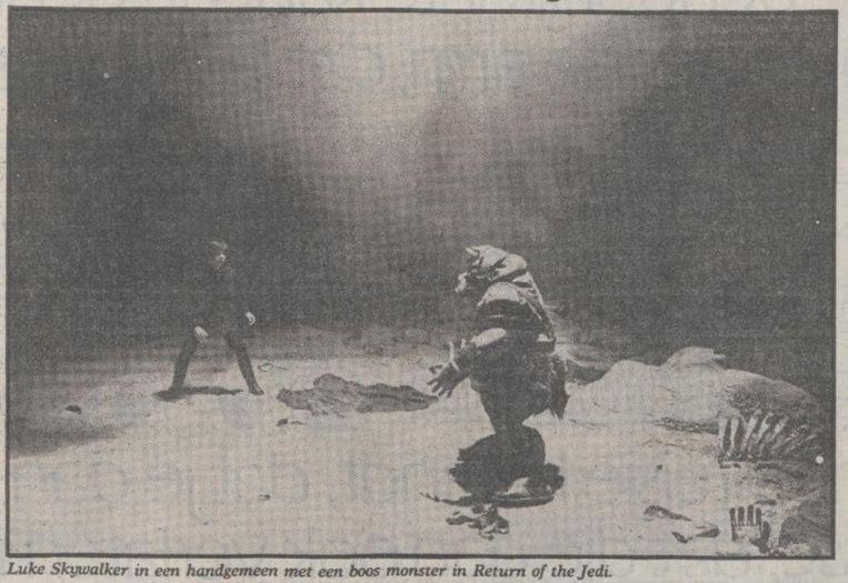 Uit de Volkskrant van 13 oktober 1983. Beeld
