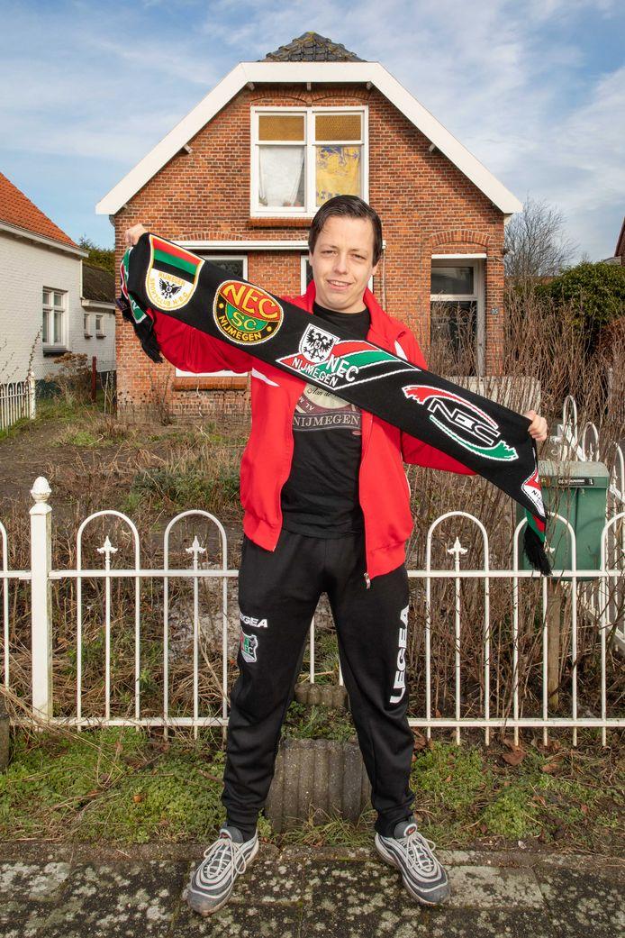 Harry Corveleijn is seizoenkaarthouder van NEC. Hij neemt deel aan de proef van komende zondag.
