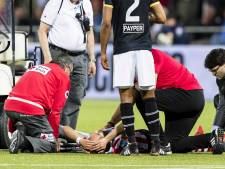 Spartaan Ahannach met beenbreuk van het veld