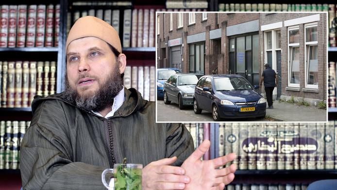 Imam Sjeik Fawaz Jneid is actief in een islamitische boekwinkel aan de  Cillierstraat in Transvaal (inzetje).