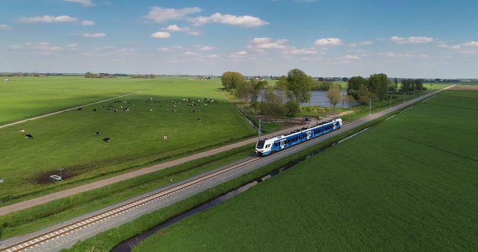 De trein op het Kamperlijntje.