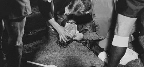 Hoe een bierblikje tegen de grensrechter in 1971 tijdens PSV - Real Madrid het eerste supportersgeweld in Nederland betekende