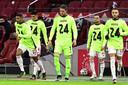 Vlak na het nieuws over zijn dopingschorsing kwamen zijn ploeggenoten nog met een steunbetuiging voor Andre Onana. Was dat de laatste keer dat zijn shirt te zien was in de Johan Cruijff Arena?