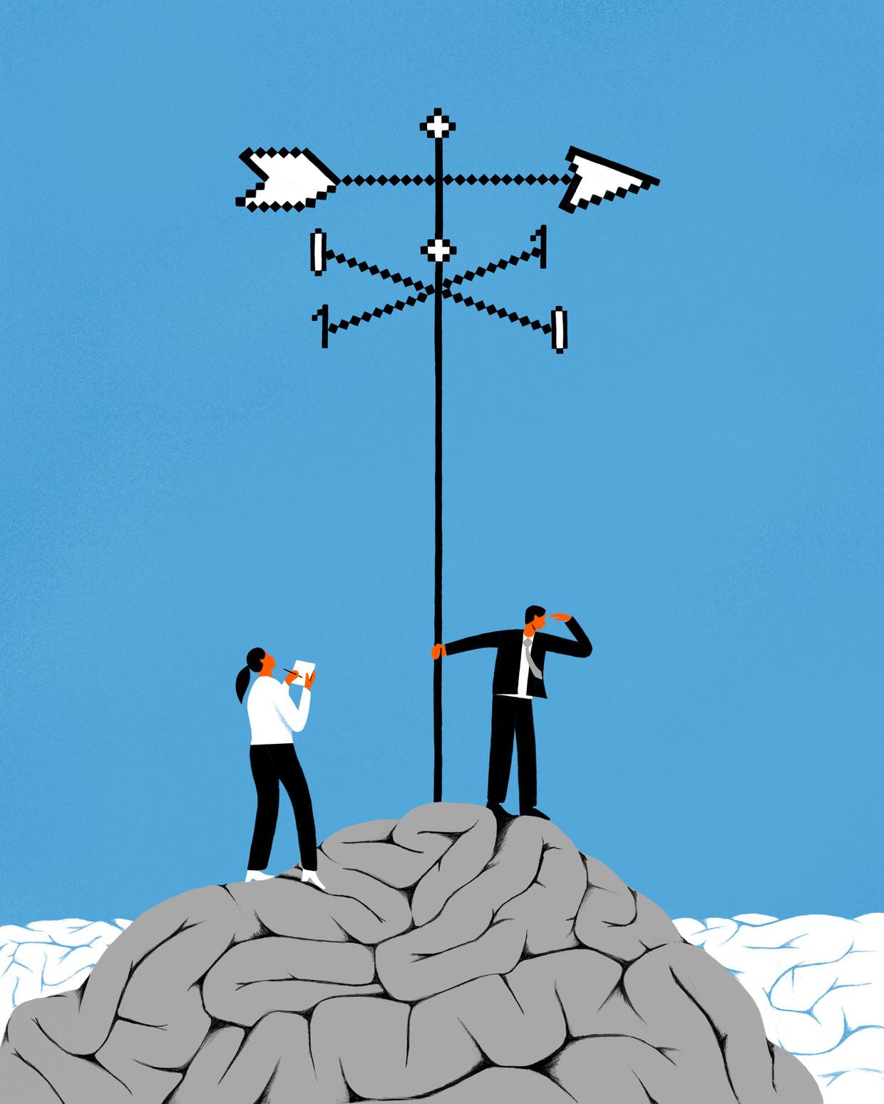 Het Amerikaanse techbedrijf Salesforce denkt met zijn zelflerende machines een doorbraak te hebben gevonden in een van de hardnekkigste problemen van de economie: wat is de ideale belastingpolitiek? Beeld Sjoerd van Leeuwen