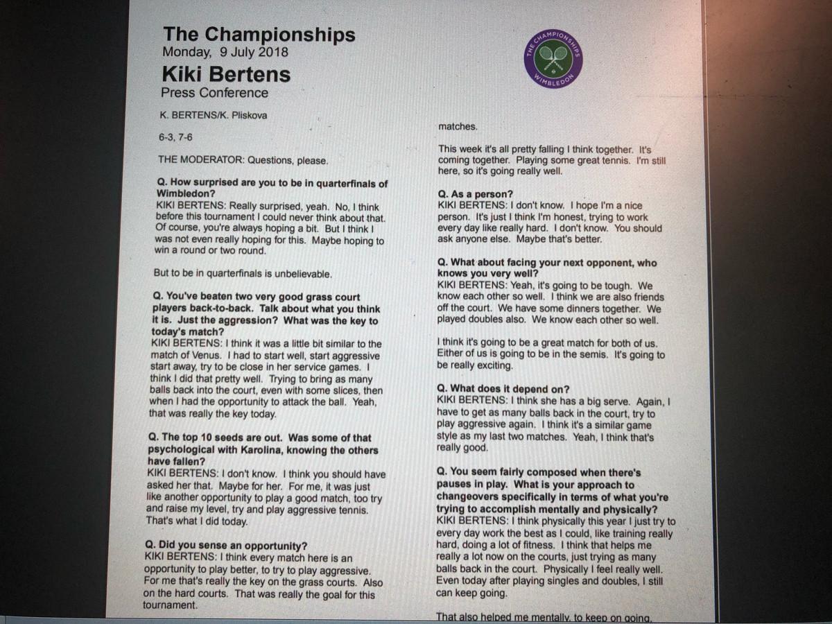 De Stenografen Op Wimbledon Absolute Topsport Foto Adnl
