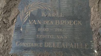 Wie kent namen op deze grafzerk? Vrouw doet vreemde oproep na lugubere vondst in tuin