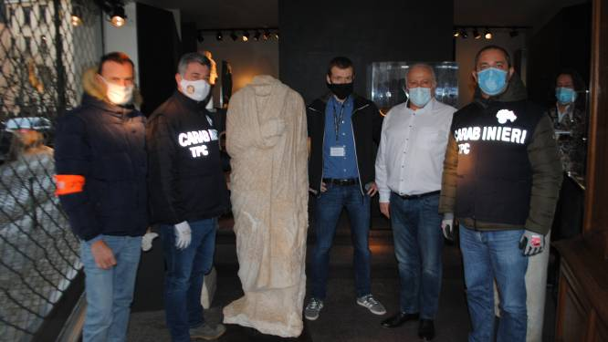 Agenten ontdekken in Brussel per toeval duur standbeeld dat tien jaar geleden in Rome gestolen was
