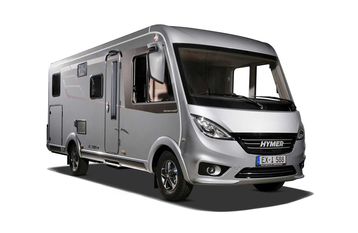 Een Duitse Hymer, 'de Mercedes onder de campers' volgens camperexpert Mickel van Erp.