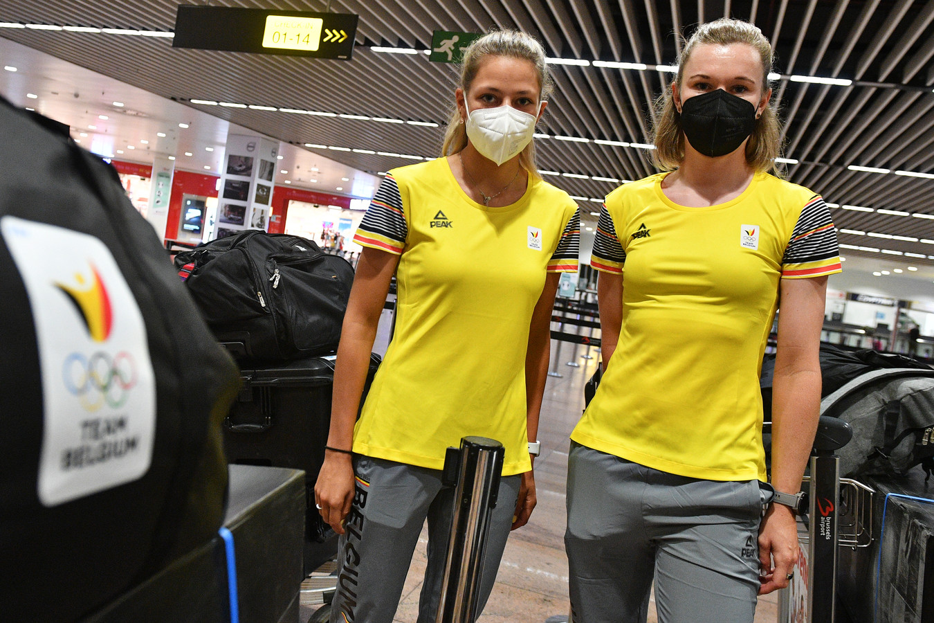 Shari Bossuyt en Jolien D'hoore zijn ook vertrokken naar Tokio.