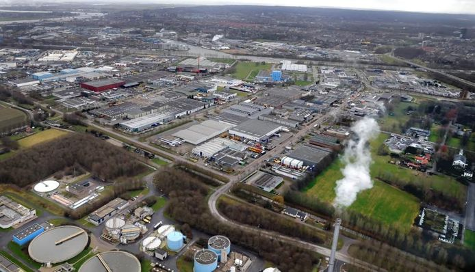 Het industrieterrein in Nijmegen-West.