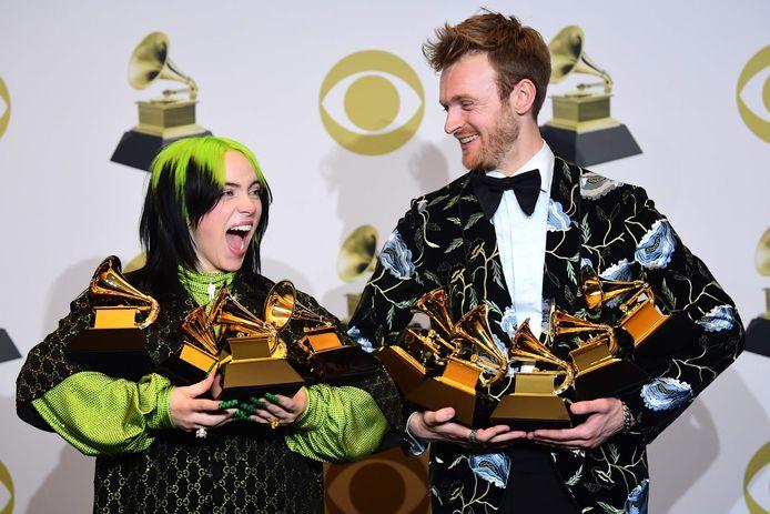Begin dit jaar: Billie Eilish en Finneas staan met de armen vol prijzen bij de Grammy Awards