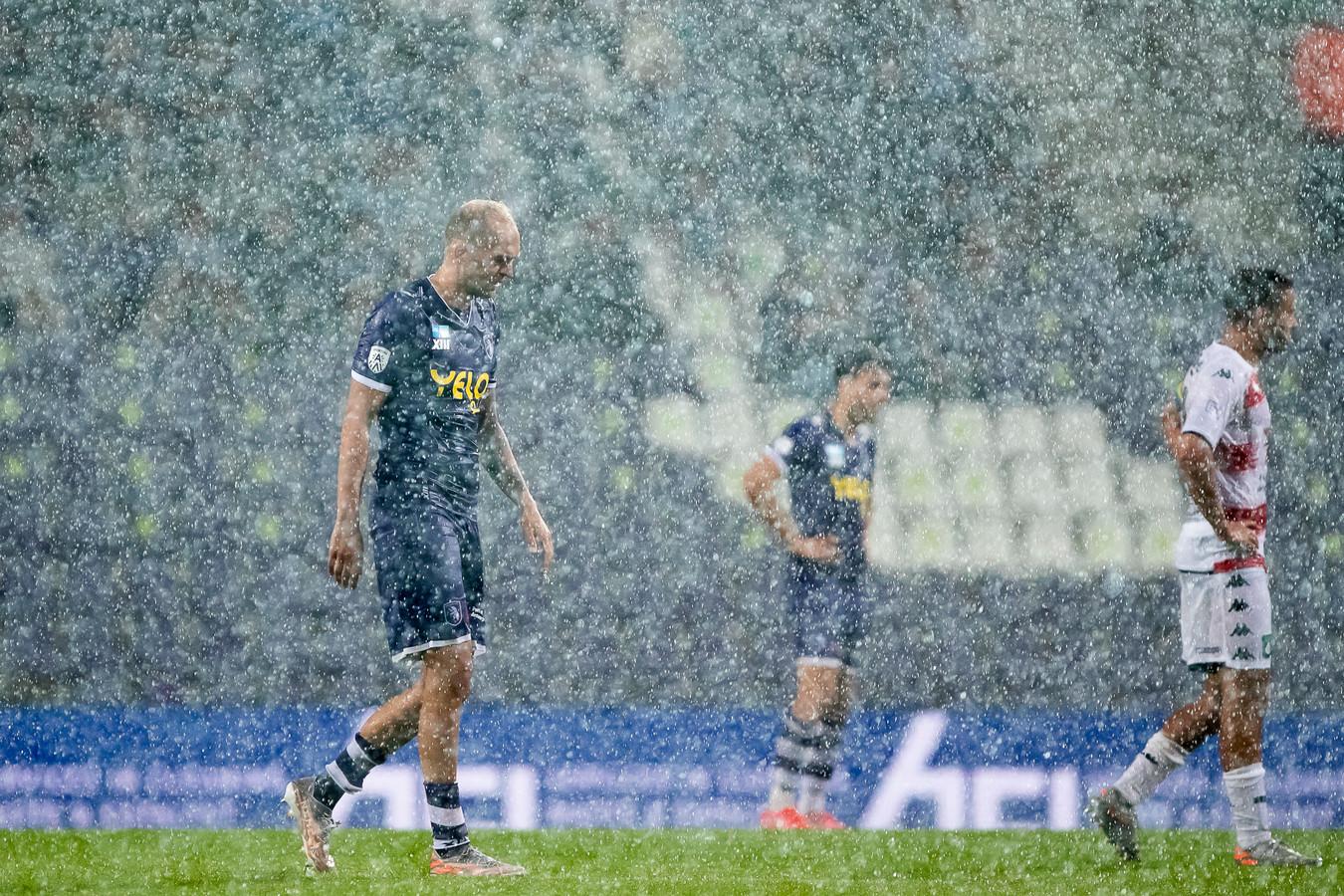Regen bij Beerschot - Cercle Brugge.