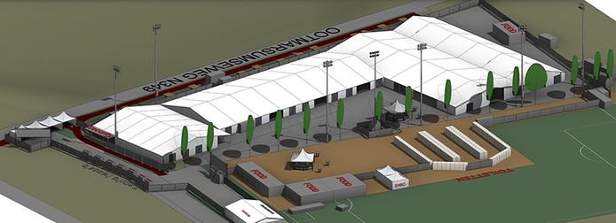 Zo moet het nieuwe festivalterrein eruit moet komen te zien. De ingang wordt verplaatst, er komen extra toegangspoortjes en het wordt met 3.000 vierkante meter uitgebreid.