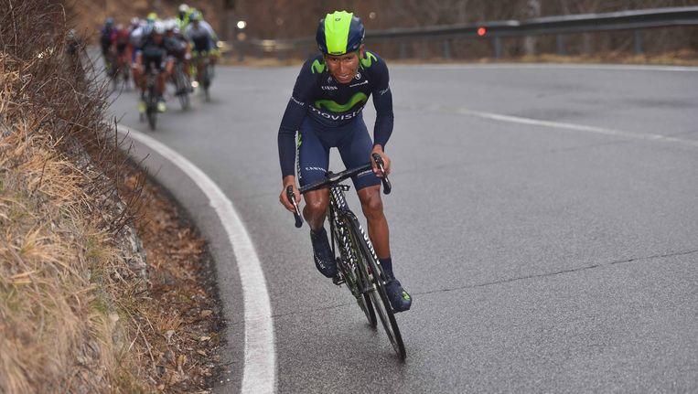 Eén welgemikt schot van een demarrage en weg was de gevleugelde klimmer Nairo Quintana, Contador en co hadden geen verhaal. Beeld TDW