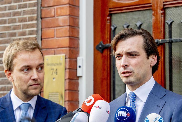 Thierry Baudet en Lennart van der Linden. Beeld EPA