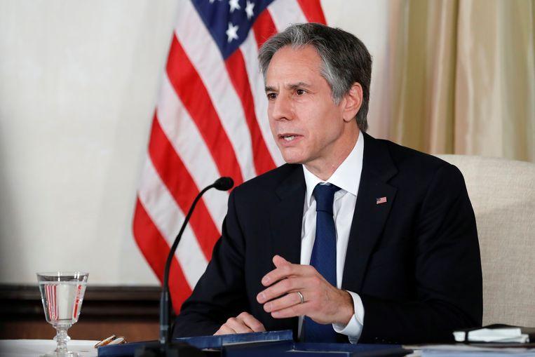 De Amerikaanse minister van Buitenlandse Zaken Anthony Blinken is gastheer in Alaska. Beeld Kim Kyung-Hoon / Reuters