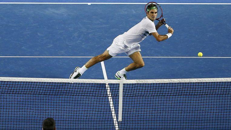 Roger Federer tijdens de Australian Open. Beeld photo_news
