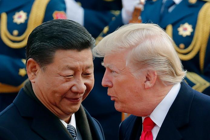 De Chinese president Xi Jinping en de Amerikaanse president Donald Trump.