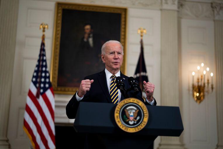 President Joe Biden van de Verenigde Staten. Beeld Photo News