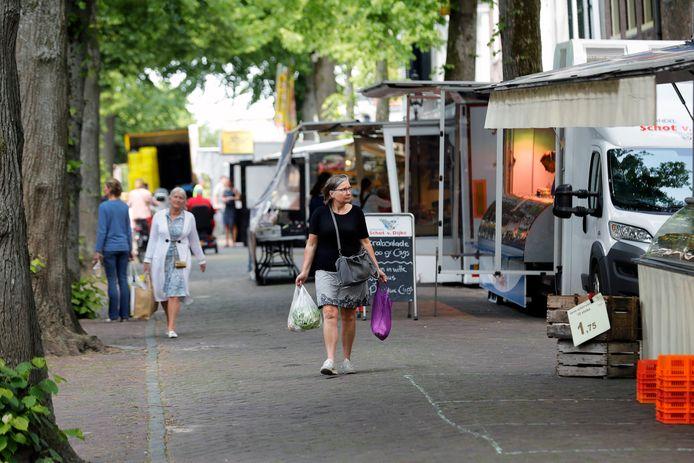 De markt zoals die vorig jaar in Sommelsdijk werd gehouden.