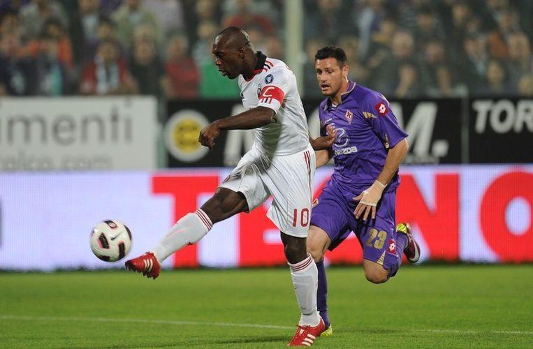 Clarence Seedorf knalde al raak na acht minuten. Beeld AFP