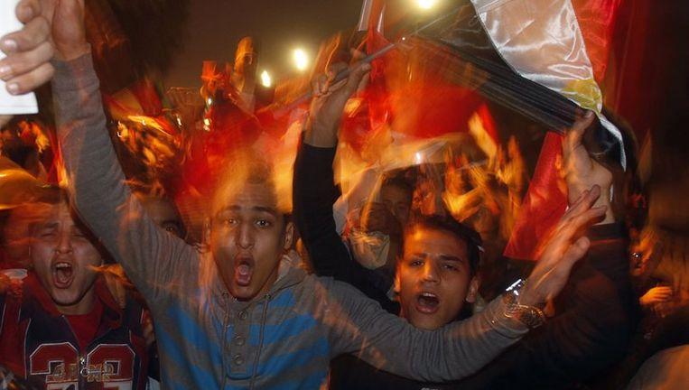 Feestende Egyptenaren. Beeld reuters