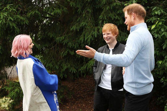Harry, Ed Sheeran en Anne-Marie