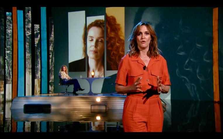 Roxane van Iperen bij Zomergasten, gepresenteerd door Janine Abbring. Beeld VPRO